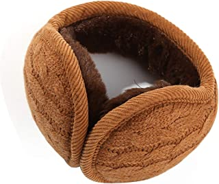 Warm Earmuffs Winter Ear Warmers Adjustable Wrap around Adult Foldable Ear Cover