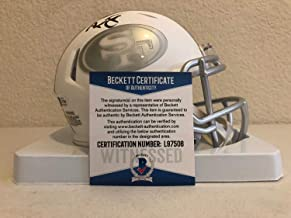 San Francisco 49ers Mini Football Helmet Autographed Signed By Ronnie Lott Signature - Beckett Authentic