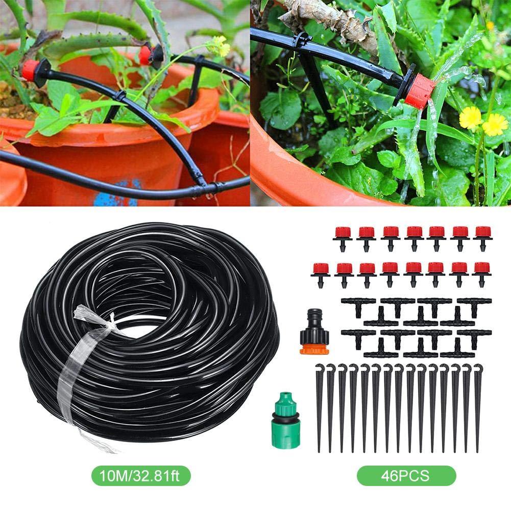 Bricolaje Micro goteo Autorretratación de plantas 10M Sistema de riego de mangueras de jardín Sistema de goteo 15 Goteo por planta Jardín: Amazon.es: Instrumentos musicales