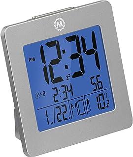 ساعت هشدار دسکتاپ Marathon CL030050GG با تاریخ و دما. آسان برای استفاده. دارای نور پس زمینه ، 2 زنگ هشدار و تعویق تعویق. 7 گزینه زبان. باتری ها شامل می شوند رنگ - گرافیت خاکستری.