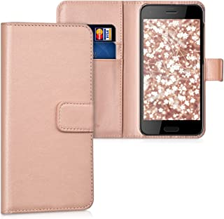 kwmobile Wallet Case for HTC One A9s - Protective PU Leather Flip Cover with Magnetic Closure, Card Slots and Kickstand