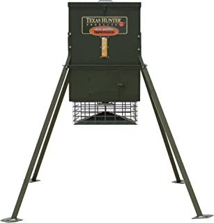 Texas Hunter Stand and Fill Wildlife & Deer Feeder w/ 4-Foot Stand and Fill Legs - 300 lb. Corn Capacity - Model TF300L4