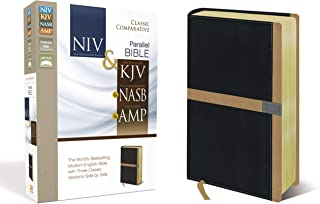 NIV, KJV, NASB, Amplified, Classic Comparative Parallel Bible, Leathersoft, Black/Tan: NIV and   KJV and   NASB and   Amplified