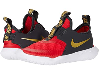 Nike Kids Flex Runner (Infant/Toddler) (University Red/Metallic Gold) Kids Shoes