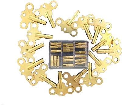 Antique Clock Key Assortment Double End