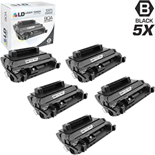 LD Compatible Toner Cartridge Replacement for HP 90A CE390A (Black, 5-Pack)