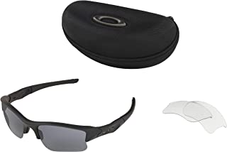 Kính mắt cao cấp nam – Standard Issue Flak Jacket XLJ Array Matte Black Frame Grey and Clear lenses 53-065