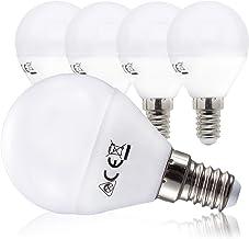 B.K.Licht LED-lamp spaarlamp E14 set van 5 5 Watt 470 lumen lamp vervangt 40 Watt lamp warm wit 3000K stralingshoek 180° val