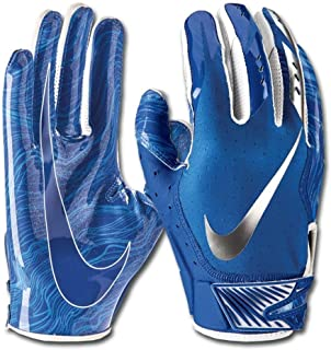 Nike Men`s Vapor Jet 5.0 Football Gloves Game Royal/Chrome