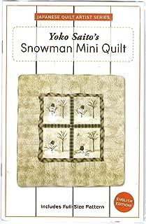 Yoko Saito's Snowman Mini Quilt Pattern by World Book Media 40.75