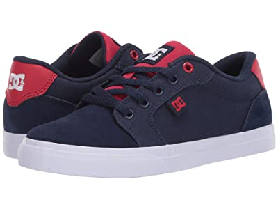 DC Kids Anvil (Little Kid/Big Kid) (Navy/Red) Boys Shoes