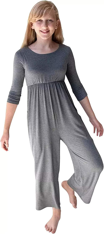 Aoysky 2021 model Girl Jumpsuits for Girls 3 Wide Leg Superior Long Sleeve Romper 4