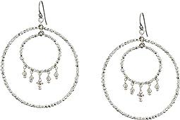 Chan Luu - Crystal Double Hoop Earrings