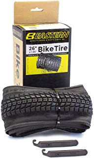 Eastern Bikes Premium Upgrade 26 x 1.95 Inch Tire with Tools. Fits Bicycles with 26 x 1.75 or 26 x 2.125 Rim or Wheels.