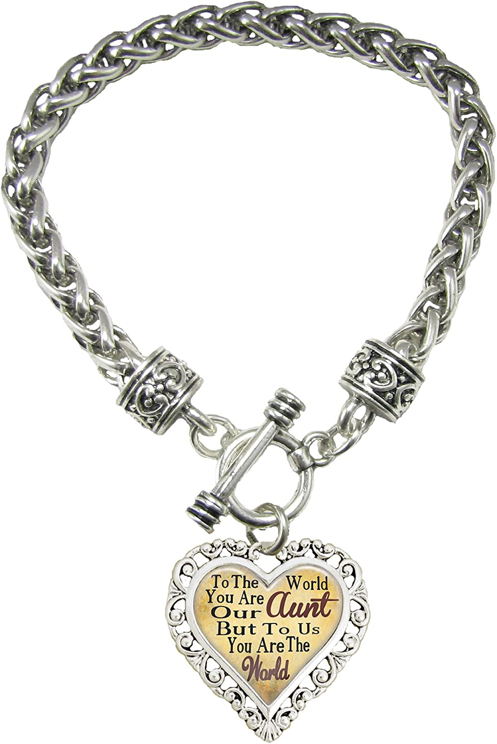 Sports Accessory Store Aunt You are The World to Us Silver Toggl