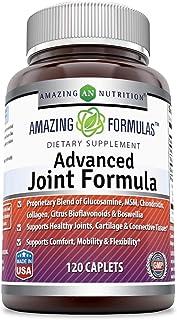 Amazing Formulas Advanced Joint Formula 120 Caplets (Non-GMO,Gluten Free) - Proprietary Blend of Glucosamine, MSM, Chondro...