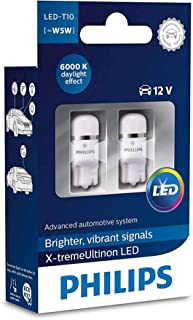 Pack of 2 Xtreme Vision 360 X treme Ultinon Philips W5W T10 194 168 LED Bulbs (6000K) more light than conventional Interior Lighting,  Provides Huge Lifetime