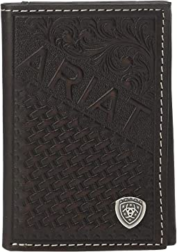 Embossed Trifold Wallet w/ Ariat Shield