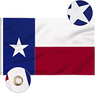 WOWFLAG Texas Flag 4x6 FT, TX Flags with Embroidered Star, Sewn Stripes (Not Print), Canvas Header & Brass Grommets, 100% High-Grade Outdoor Nylon for All-Weather Outdoor Display