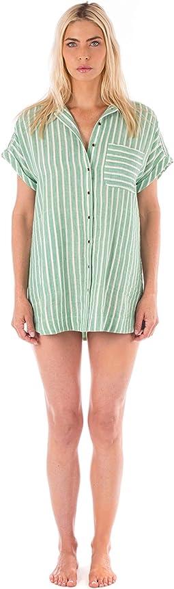 Jade/White Stripe