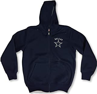 Dallas Cowboys Team Color Poly Knit with Sherpa Lining Full Zip Up Hoodie