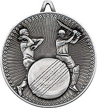 Lapal Dimension Cricket Deluxe Medal - Antiek Zilver 6,0 cm