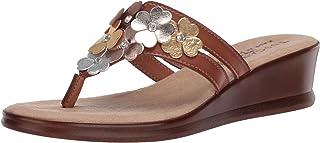 Easy Street womens Slide Sandal, Cognac, 9.5 Wide US