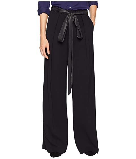 Adam Lippes Stretch Crepe Trousers w/ Inverted Pleats