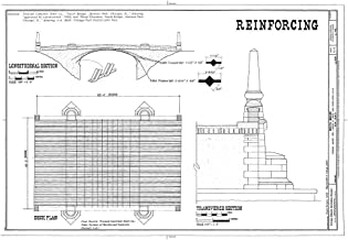 Historic Pictoric Blueprint Diagram HAER Ill, 16-CHIG, 157- (Sheet 2 of 2) - South Bridge, Spanning Jackson Park Lagoon at South Lake Shore Drive (U.S. Route 41), Chicago, Cook County, IL 12in x 08in