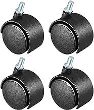 Caster Caster, 4 stuks, 2 inch (5 cm), nylon, 360 graden, M8 x 13 mm, draadwielen, voor meubelstoel