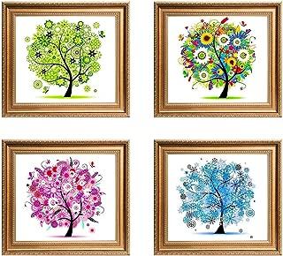 KISSTAKER Diamond Painting,5D Four Seasons Tree DIY Diamond Handmade Panting Home Room Decor (Four Season)