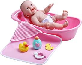 "JC Toys La Newborn Realistic Baby Doll Bathtub Gift Set Featuring 13"" All Vinyl.."