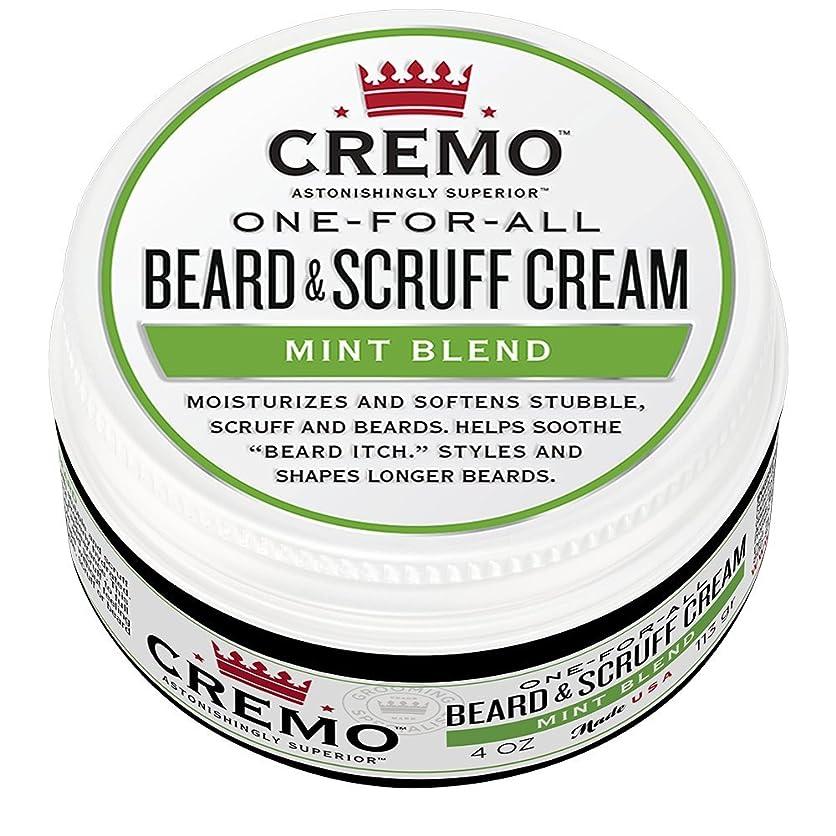 閉塞補うラインCremo ビアード&首筋クリーム、ミントのブレンドの香り、潤い、スタイルとひげのすべての長さについてはビアードかゆみを軽減し、4オンスをブレンド、包装は変更になる場合があります