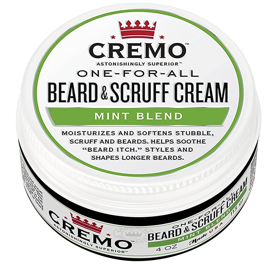 スリップ週末劣るCremo ビアード&首筋クリーム、ミントのブレンドの香り、潤い、スタイルとひげのすべての長さについてはビアードかゆみを軽減し、4オンスをブレンド、包装は変更になる場合があります