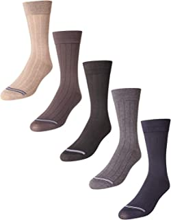 'Nautica Men's Breathable Stretch Comfort Classic Solid Dress Socks (5 Pack) (Navy/Grey, Shoe Size: 6-12.5)'