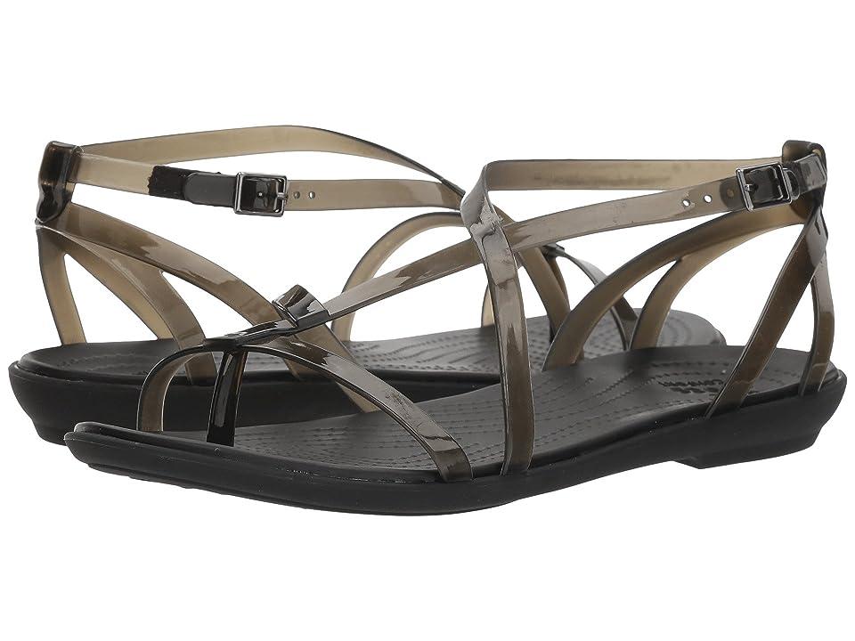 Crocs Isabella Gladiator Sandal (Black/Black) Women