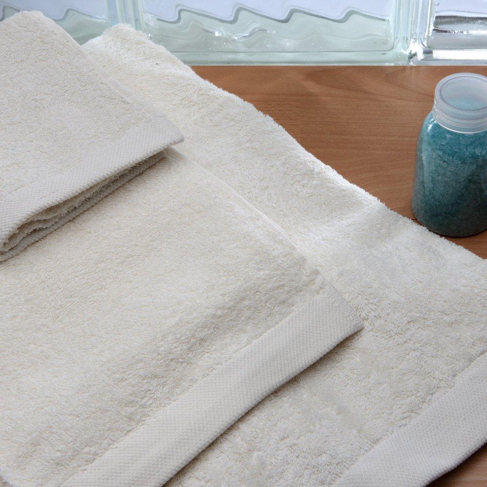 Burrito Blanco Juego de Toallas de Baño Lisas 3 Piezas (1 toalla ...