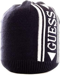 Guess Luxury Fashion Mens AM8591WOL01BLUE Blue Hat   Fall Winter 19
