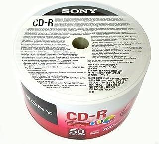 Sony 50 Pack Blank CD-R CDR White Inkjet Hub Printable 48X 700MB 80min Record Media Disc
