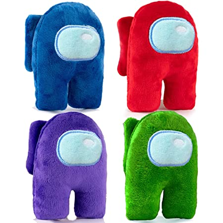 LIANGZAI Among Us Plush,Small Among Us Game Role Plush Toy,Soft Cute Astronaut Stuffed Plush Figures for Gifts Game Fans Black