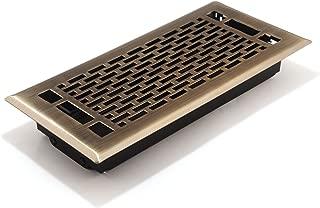 Accord AMFRABMA410 Manhattan Floor Register, 4-Inch x 10-Inch(Duct Opening Measurements), Antique Brass