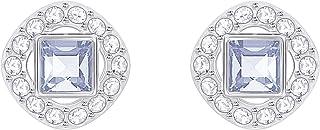 Swarovski Women's Blue Rhodium plated Angelic Square Pierced Earrings 5352048