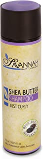 Savannah Hair Therapy Shampoo - Just Curly Collection Treatment - Shea Butter, Cotton and Silk Protein and Vitamin B5 - For Curly Hair. Sodium Chloride and Sulfate Free. 8.45 oz