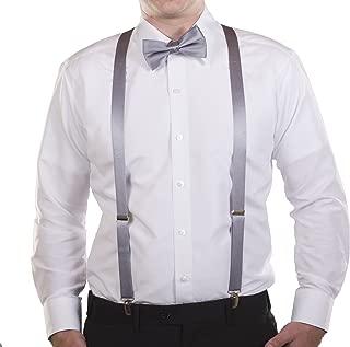 Y-back Suspenders and Bow Tie Set Mio Marinos Silk Suspenders for Men