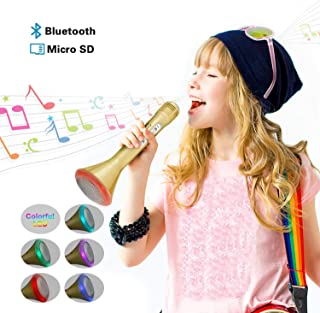 Fricon Karaoke Microphone Bluetooth for Kids - Best Gifts