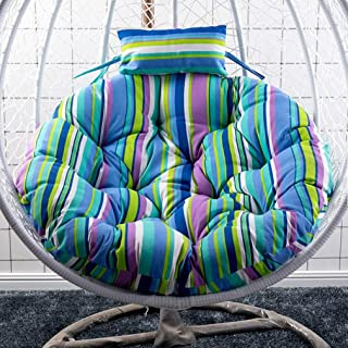 AFGBB Indoor/Outdoor Hanging Basket Chair Cushions, Swing Chair Lumbar Back Support Cushion Pillow for Patio Yard Garden Beach (Color : T)