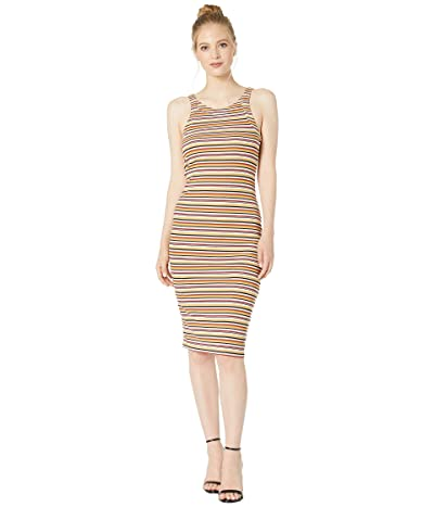 1.STATE Stripe Dialogue Bodycon Knit Dress (Soft Ecru) Women