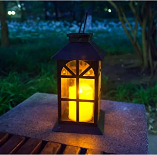 Outdoor Solar Lantern Decor to Add to Your Seasonal Lighting Solid Metal and Glass Construction Estate Solar Mission Lante...