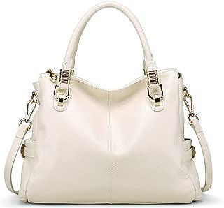Womens Genuine Leather Vintage Tote Shoulder Bag Top-handle Crossbody Handbags Large Capacity Ladies' Purse