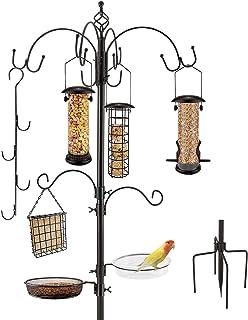 Deluxe Bird Feeding Station Kit Bird Feeder Pole Bird Feeder Hanging Kit Multi Feeder Hanging with Metal Suet Feeder Bird ...